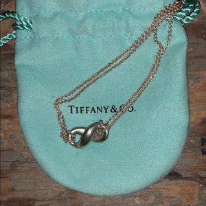 Tiffany & co silver infinity pendant 18 inch